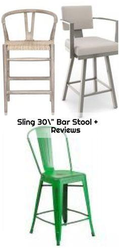 "Sling 30"" Bar Stool + Reviews ,  ,  #bar #Reviews #Sling #Stool Modern Bar, All Modern, Modern Stools, Counter Bar Stools, Swivel Bar Stools, Bar Areas, Transitional Kitchen, Traditional, Chair"
