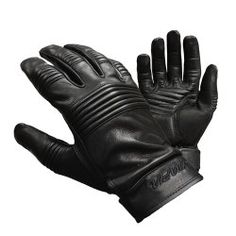 Raider BCS-2660-XL Black Leather Gauntlet Motorcycle Riding Gloves for Men and Women Size X-Large