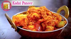 Kadai Paneer - in Tamil Curry Recipes, Chicken Wings, Pizza, Traditional, Meat, Food, Essen, Yemek, Meals