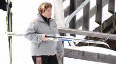 Angela Merkel fährt gern Ski. Foto: Twinam.