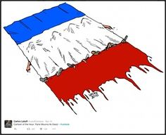 Paris mourns its dead, by Carlos Latuff