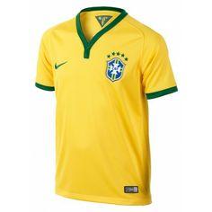 Het #Nike Brazilië thuisshirt junior is een officiële replica van het wedstrijdshirt dat de kanaries zullen dragen tijdens hun thuiswedstrijden op het #WK2014. #dws