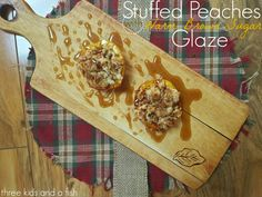 Stuffed peaches with