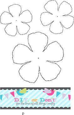 Crepe Paper Flowers, Felt Flowers, Diy Flowers, Fabric Flowers, Z Craft, Craft Stick Crafts, Paper Crafts, Classroom Crafts, Flower Template