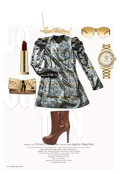 NewYork READY!! by joyphoenix on Polyvore featuring polyvore, fashion, style, Louis Vuitton, Rolex, Kevyn Aucoin and clothing