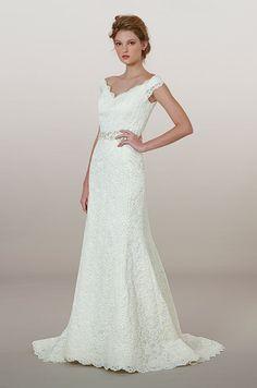 Elegant lace wedding dress by Liancarlo, Fall 2014