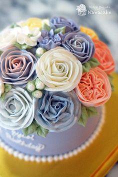 플라워케익으로 멋진 돌상케익장식하기^^ _돌잔치 케이크 by.나나 : 네이버 블로그