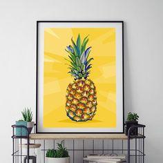 """Be A Pineapple: Stand Tall Wear A Crown And Be Sweet On The Inside! Denne unike plakaten finner du kun på 2019.no!"