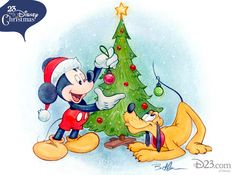 Mickey and Pluto. Designed by Bret Iwan for 23 Days of Disney Christmas. Disney And More, Disney Love, Disney Magic, Disney Christmas Decorations, Mickey Christmas, Christmas Crafts, Merry Christmas, Xmas, Mickey Minnie Mouse
