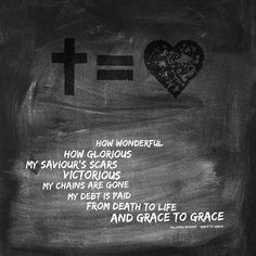 pondering the life-changing miracle of Easter --- Hillsong Worship - Grace to Grace #crossequalslove How wonderful How glorious My Saviour's scars Victorious My chains are gone My debt is paid From death to life And grace to grace