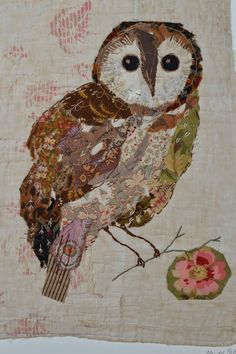 ♒ Enchanting Embroidery ♒ embroidered owl | thread & thrift
