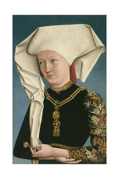 Anonymous German Artist active at the Court of Ansbach Portrait of a Lady wearing the Order of the Swan ca. 1490 Oil on panel. x cm Museo Thyssen-Bornemisza, Madrid INV. Renaissance Mode, Renaissance Fashion, 1500s Fashion, Renaissance Portraits, Renaissance Paintings, Medieval Clothing, Medieval Art, Medieval Costume, Renaissance