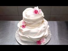 Beautiful Ruffle WEDDING CAKE How To Decorate by Cakes StepbyStep - YouTube