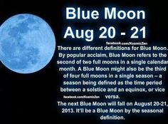 Blue moon August 20, 2013