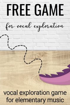 Tons of ideas for using vocal exploration in elementary music. Comes with a free interactive game you can use in your elementary music classroom.