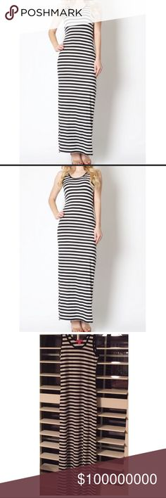 Brand new maxi dress from online boutique. Really comfortable maxi dress.. 95% Rayon 5% spandex..perfect for hot summer days..love love love black & white stripes.. 💕💕 Misty pearl Dresses Maxi