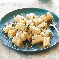Totally delicious Cheesy Potato Gnocchi from @Every Day Rachael Ray. The recipe is from Rach's pal Buddy Valastro (aka The Cake Boss). A savory departure for the sugar and frosting expert!