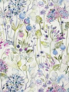 Buy Voyage Country Hedgerow Furnishing Fabric, Lilac Cream from our Furnishing Fabrics range at John Lewis & Partners. Curtains Or Roman Blinds, Green Curtains, Birthday Background Design, Red Colour Palette, Made To Measure Curtains, Bedroom Plants, Watercolor Print, Watercolour Flowers, Flower Power