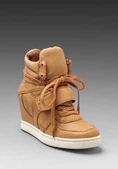 ASH Cool Ter Wedge Sneaker in Nude - New
