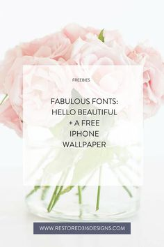 Font Crush - Hello Beautiful & a free iPhone wallpaper Beautiful Fonts, Hello Beautiful, Restored 316, Beginner Books, Find Fonts, Free Iphone Wallpaper, Blog Names, Blog Topics, Typography Fonts