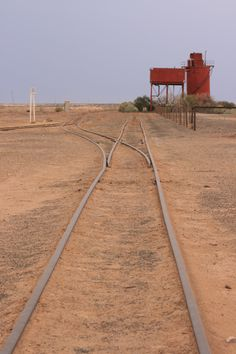 Railway watering station, South Australian desert near Kati Thanda-Lake Eyre
