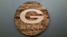Green Bay Packers Sign / Plaque by StCroixRoutingDesign on Etsy https://www.etsy.com/listing/245601334/green-bay-packers-sign-plaque