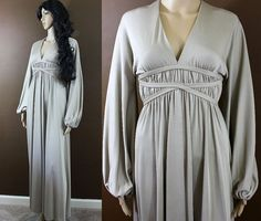 Vintage 70s peasant WEDDING GOWN gypsy goddess dress ~ $148.00