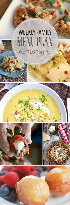 Weekly Family Meal Plan - Week 25 | Melanie Makes