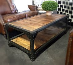 Carriage Industrial Coffee Table II