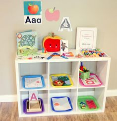 Letter Learning Series | Letter of the Week Letter A - Adorable set up for Letter A week!