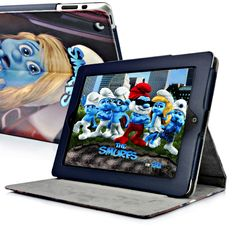 The Smurfs Anxious Smurfette Leather Stand Case For The new iPad/iPad 2  PriceUS $13.98 Apple Ipad Accessories, Smurfette, New Ipad, Anxious, Ipad Case, Smurfs, Leather