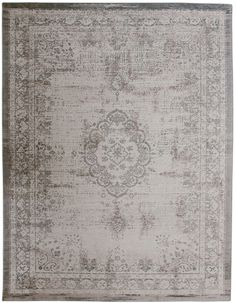 Vintage-Teppich beige sand grau silber