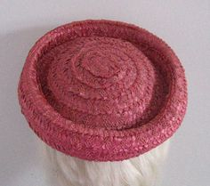 Vintage RASPBERRY STRAW TOPPER 1960s by vintagous on Etsy, $14.00