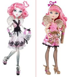 cupid ever after high vs monster high-- she's so cute!