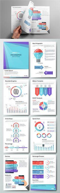 Pro Flat Infographic Brochure Template PSD, Vector EPS, AI Illustrator. Download here: http://graphicriver.net/item/pro-flat-infographic-brochure-set-4/16413838?ref=ksioks