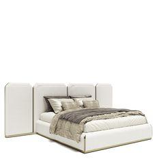 Bed Furniture, Furniture Design, Velvet Bed, Studio Apartment Decorating, Showroom Design, Stylish Bedroom, Bed Design, Holly Hunt, Home Decor