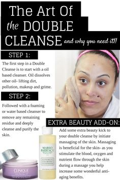 Double-Cleanse-Skincare-Beauty-Great-Skin a great way to balance and cleanse skin while never over drying.