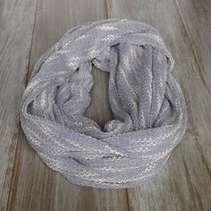 Light Blue and White Sweater Knit Infinity Scarf // by TheBlueDodo