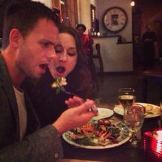 """Troian Bellisario and Patrick J Adams .. this reminds me of the couples saying """"whats mine is yours"""""""