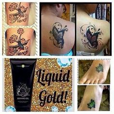 Attention all tattoo lovers 🙋🙋🙋  Look 👀how much more 💥LIVELY &  VIBRANT💥 your tattoos will look from using our product!!🙊 Talk about saving time & money from using our defining gel for vibrancy instead of going into a shop paying tons of money for just touching it up! Contact me to get a bottle!  Message me 📲815-348-2996 or RebeccaBarnes.myitworks.com