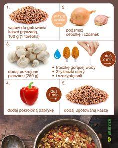 """""""Kasza gryczana z pieczarkami i papryką w curry :) #przepis #kaszagryczana #papryka #pieczarki #zdrowo  #zdrowejedzenie #dieta"""""""
