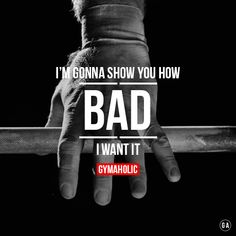 I'm gonna show you how BAD I want it ! Hands on the barbell, ready to kill my workout. http://www.gymaholic.co