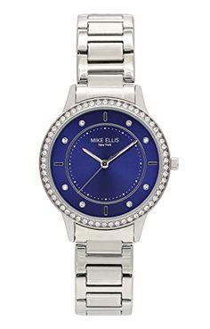 Mike Ellis New York Damen-Armbanduhr Blueline Analog Quarz Edelstahl SM4612 - http://uhr.haus/mike-ellis-new-york/mike-ellis-new-york-damen-armbanduhr-blueline-3