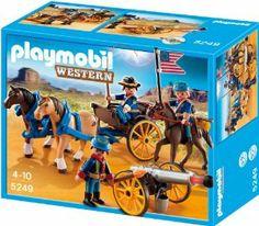 Playmobil Oeste - Soldados con cañón (5249) - http://kidstoysplanet.com/toys-games/action-figures-statues/playmobil-oeste-soldados-con-can-5249-es/?http://kidstoysplanet.com/