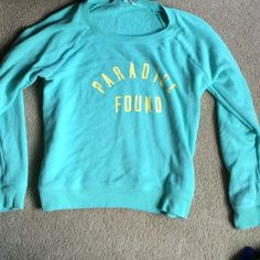 Paradise found Victoria secret sweatshirt Worn only a few times, very comfortable sweatshirt! Victoria's Secret Tops Sweatshirts & Hoodies