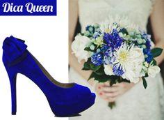 sapato noiva azul