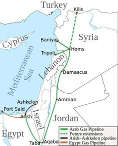 Map showing the Arish-Ashkelon pipeline, the Egypt gas pipeline, and the Arab gas pipeline. Port Said, Gas Pipeline, Jordan Future, Renewable Sources Of Energy, Energy Resources, Iraq War, Oil And Gas, Lebanon, Politics