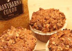 Almás-diós muffin Winter Food, Fudge, Tiramisu, Sweet Treats, Goodies, Food And Drink, Sweets, Chocolate, Baking