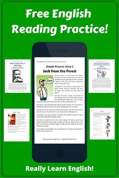 Free English Reading Practice for ESL teachers and students. Lesson planning made easy!