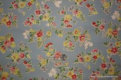 1930's Vintage Wallpaper blue with pink and by HannahsTreasures, $14.00